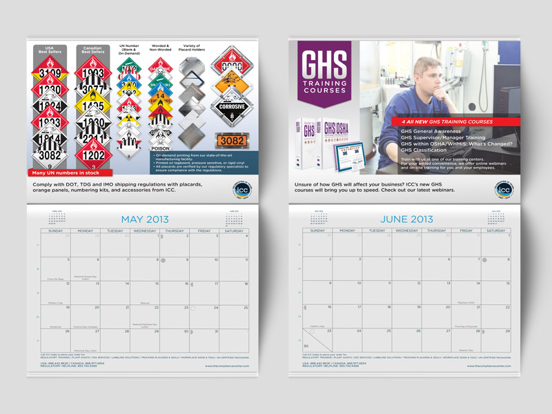 Calendar Design Illustrator : Promo calendar eric kenyon graphic design