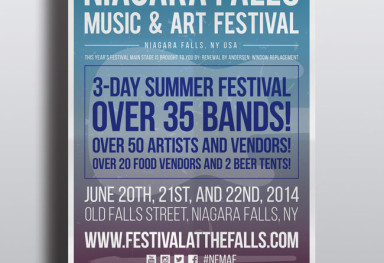 Niagara Falls Music & Art Festival Advertising and Web Design