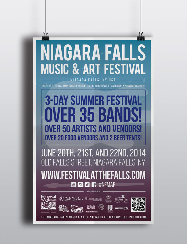 Niagara Falls Music and Art Festival Poster