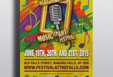 Niagara Falls Music & Art Festival Website and Marketing Collateral