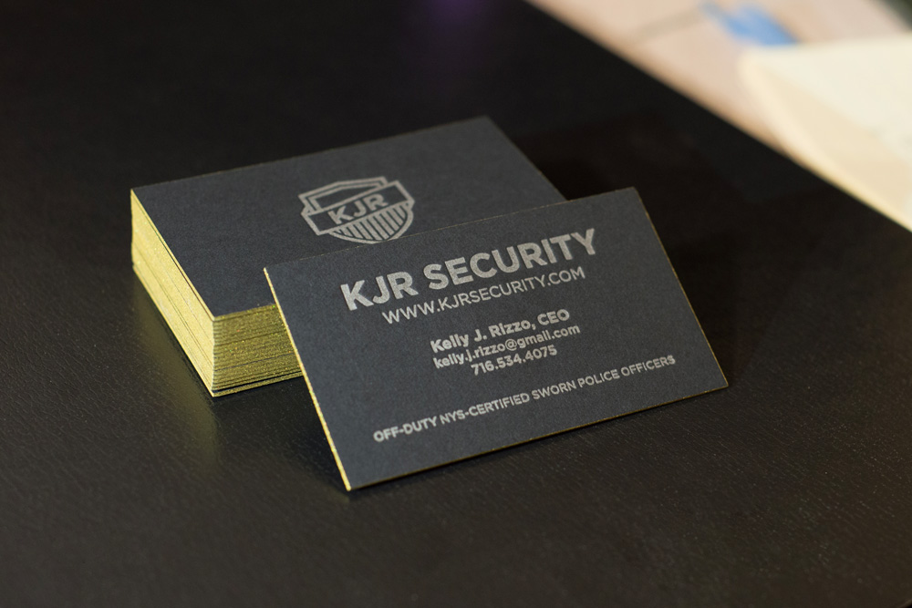 KJR Security black business card