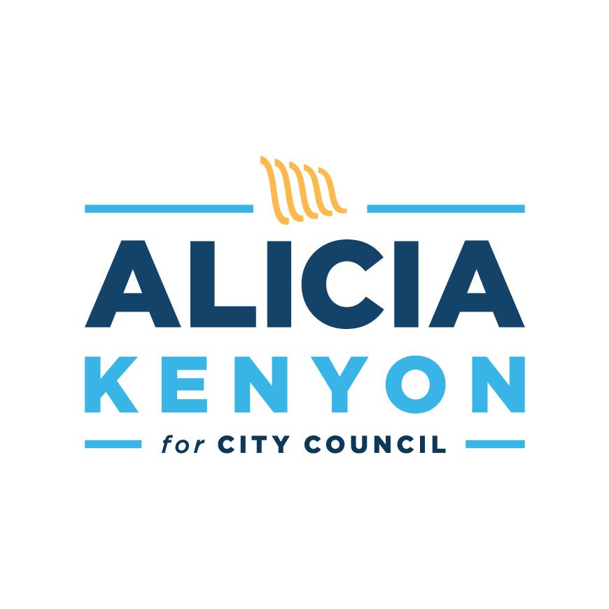 Alicia Kenyon for City Council 2019 logo