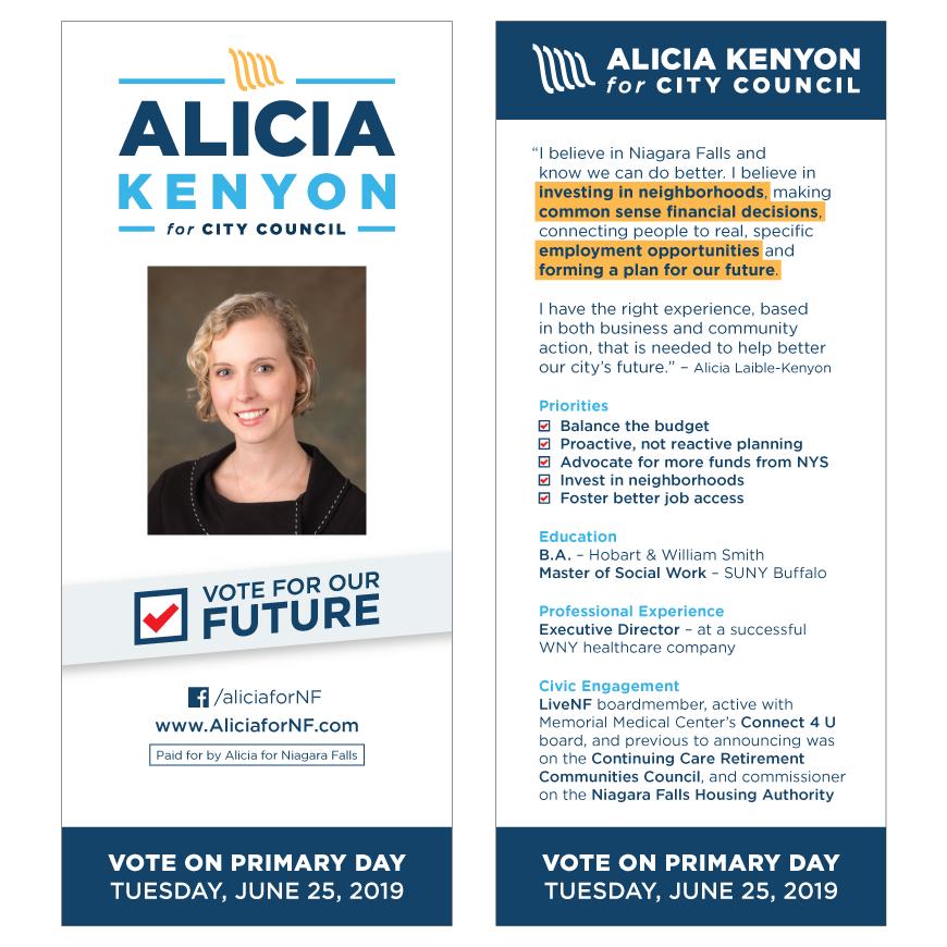 Alicia Kenyon palm card design