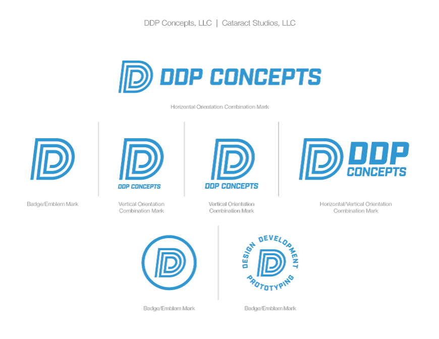 DDP Concepts light blue logo on white