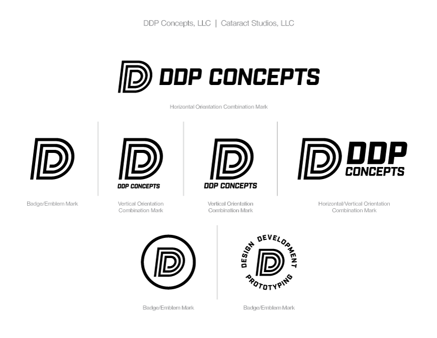 DDP Concepts black logo on white