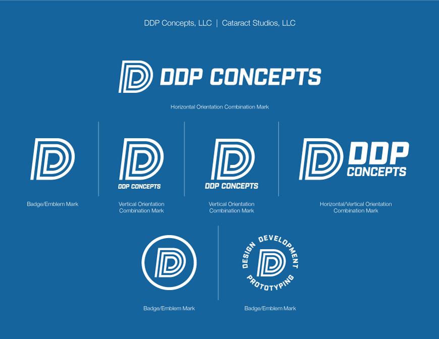 DDP Concepts white logo on dark blue