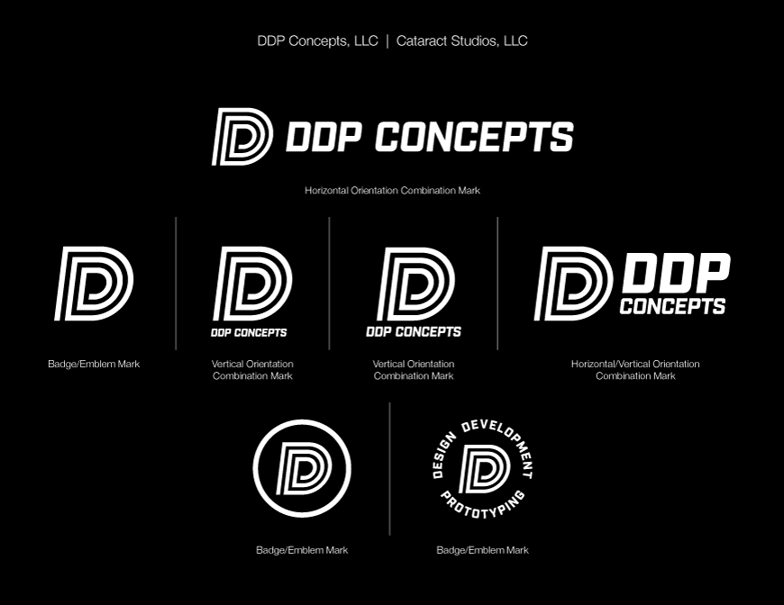DDP Concepts white logo on black